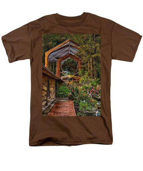The Wayfarers Chapel Men's T-Shirt  (Regular Fit) by Donna Greene