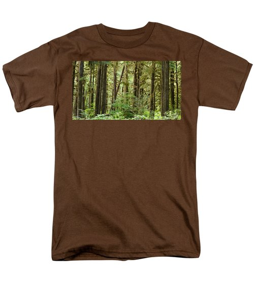 Trees In A Forest, Quinault Rainforest Men's T-Shirt  (Regular Fit) by Panoramic Images