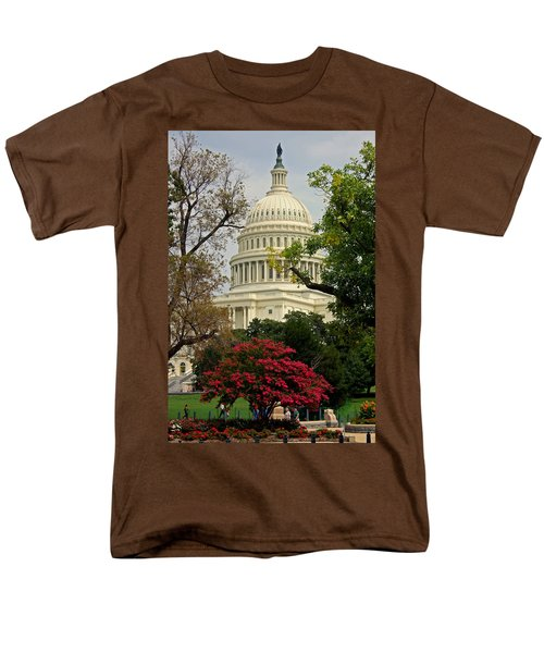 Men's T-Shirt  (Regular Fit) featuring the photograph United States Capitol by Suzanne Stout
