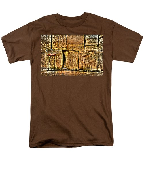 Men's T-Shirt  (Regular Fit) featuring the photograph Wailing Wall by Doc Braham