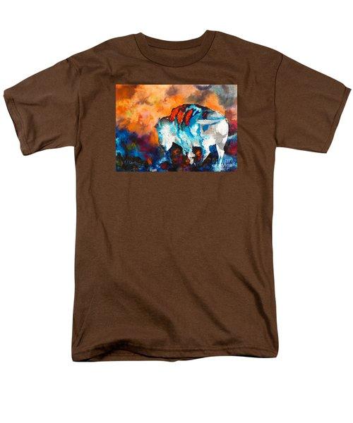 White Buffalo Ghost Men's T-Shirt  (Regular Fit) by Karen Kennedy Chatham