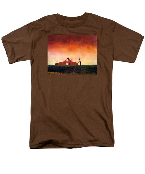 Men's T-Shirt  (Regular Fit) featuring the painting Wired Down by William Renzulli