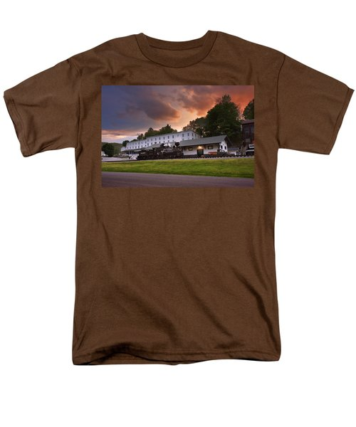 Cass Scenic Railroad Men's T-Shirt  (Regular Fit) by Mary Almond