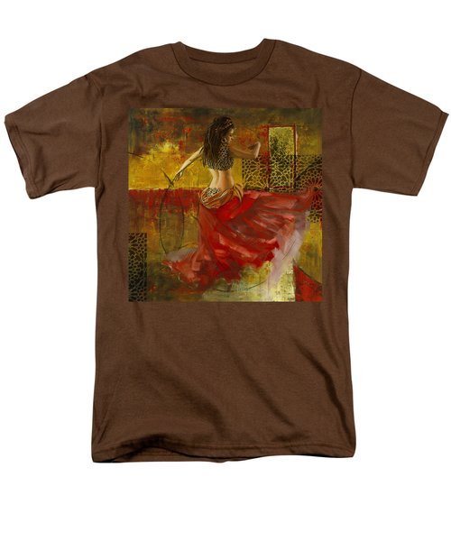 Abstract Belly Dancer 6 Men's T-Shirt  (Regular Fit) by Corporate Art Task Force