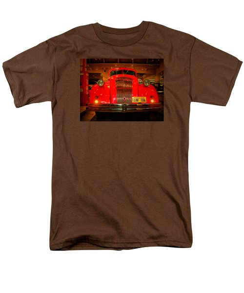 Men's T-Shirt  (Regular Fit) featuring the photograph 1939 World's Fair Fire Engine by MJ Olsen