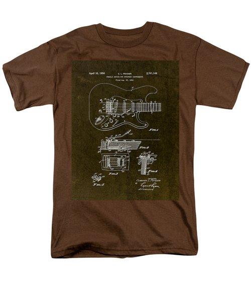 1956 Fender Tremolo Patent Drawing II Men's T-Shirt  (Regular Fit) by Gary Bodnar
