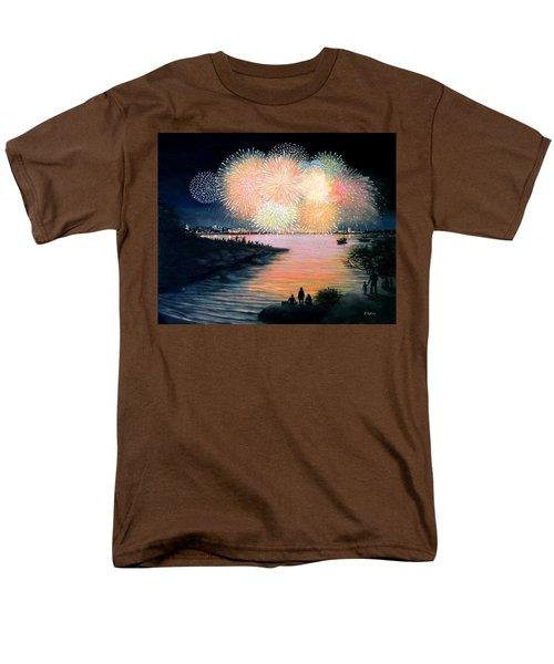 4th Of July Gloucester Harbor Men's T-Shirt  (Regular Fit) by Eileen Patten Oliver