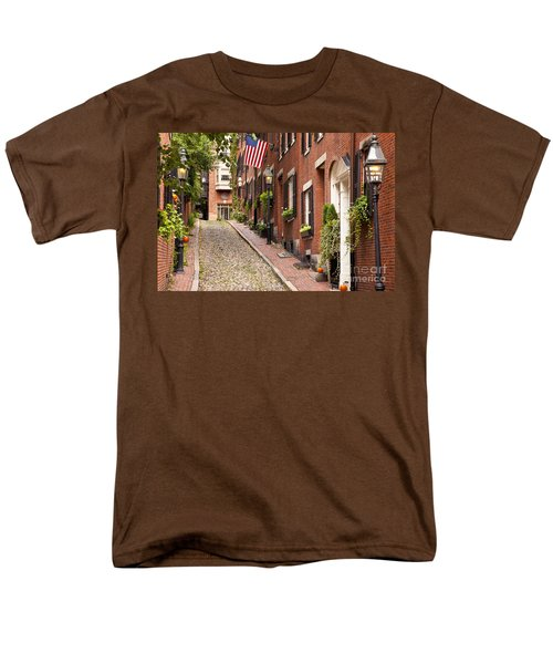 Acorn Street Boston Men's T-Shirt  (Regular Fit) by Brian Jannsen