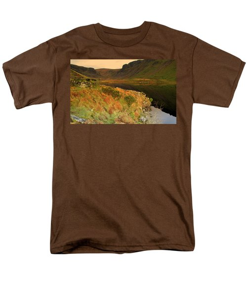 Annascaul Lake Men's T-Shirt  (Regular Fit) by Barbara Walsh