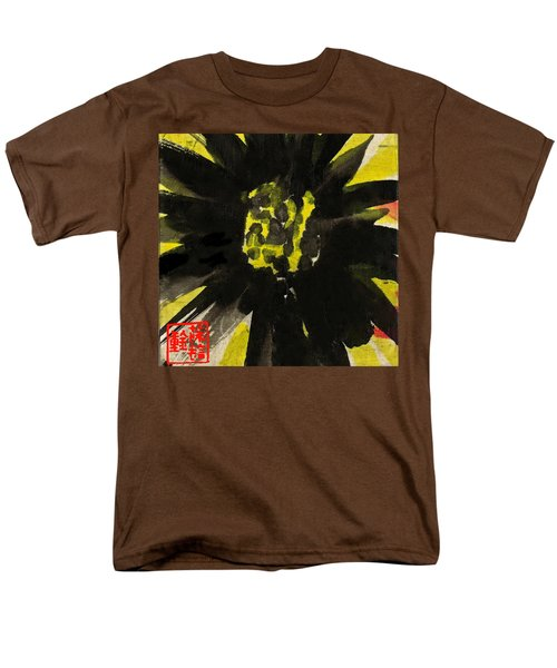 Men's T-Shirt  (Regular Fit) featuring the painting Asian Sunflower by Joan Reese