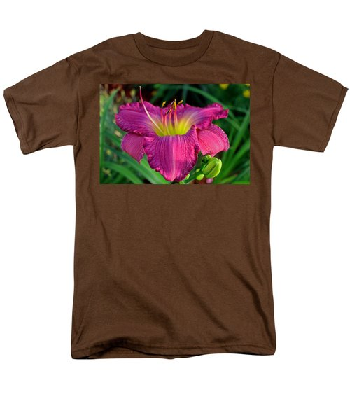 Men's T-Shirt  (Regular Fit) featuring the photograph Bela Lugosi Daylily by Suzanne Stout
