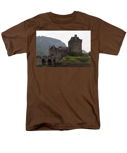 Cartoon - Structure Of The Eilean Donan Castle With A Stone Bridge Men's T-Shirt  (Regular Fit) by Ashish Agarwal