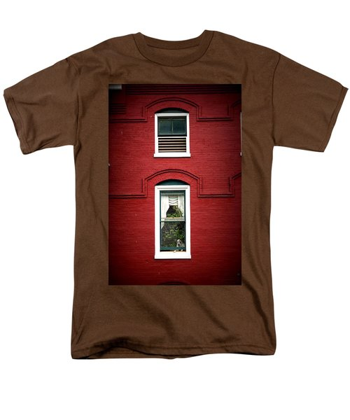 Doggie In The Window Men's T-Shirt  (Regular Fit) by Laurie Perry