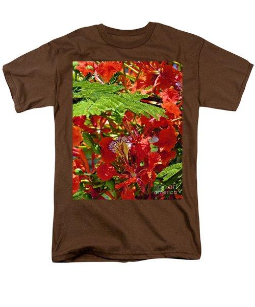 Men's T-Shirt  (Regular Fit) featuring the photograph Flamboyan by Lilliana Mendez