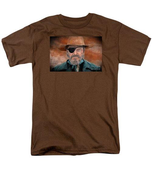 Jeff Bridges As U.s. Marshal Rooster Cogburn In True Grit  Men's T-Shirt  (Regular Fit) by Jim Fitzpatrick