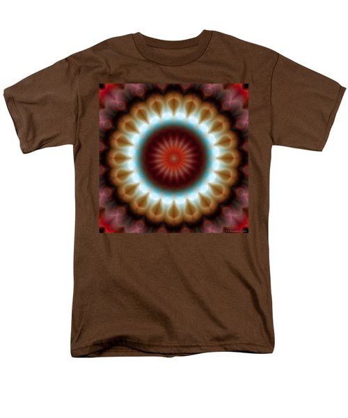 Men's T-Shirt  (Regular Fit) featuring the digital art Mandala 83 by Terry Reynoldson