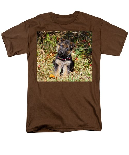 Pretty Puppy Men's T-Shirt  (Regular Fit) by Sandy Keeton