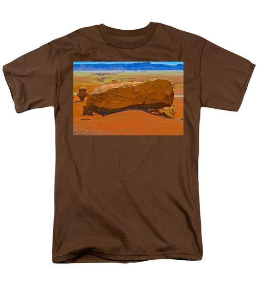 Rock Orange Men's T-Shirt  (Regular Fit)