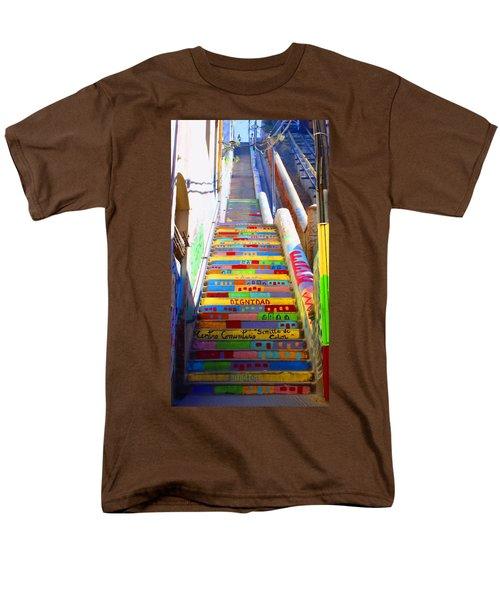 Stairway To Heaven Valparaiso  Chile Men's T-Shirt  (Regular Fit) by Kurt Van Wagner