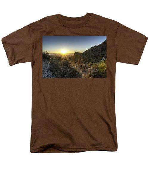 Winter Sunset Men's T-Shirt  (Regular Fit) by Lynn Geoffroy