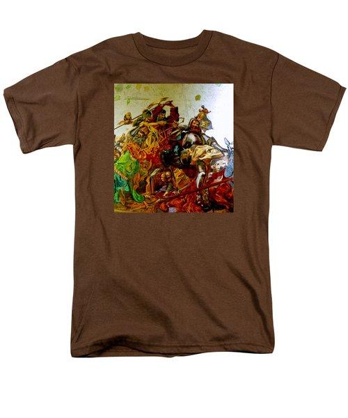 Men's T-Shirt  (Regular Fit) featuring the painting Battle Of Grunwald by Henryk Gorecki