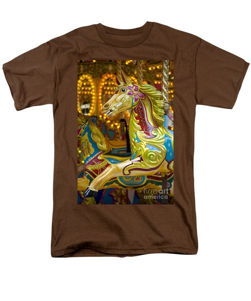 Men's T-Shirt  (Regular Fit) featuring the photograph Fairground Carousel by Lee Avison