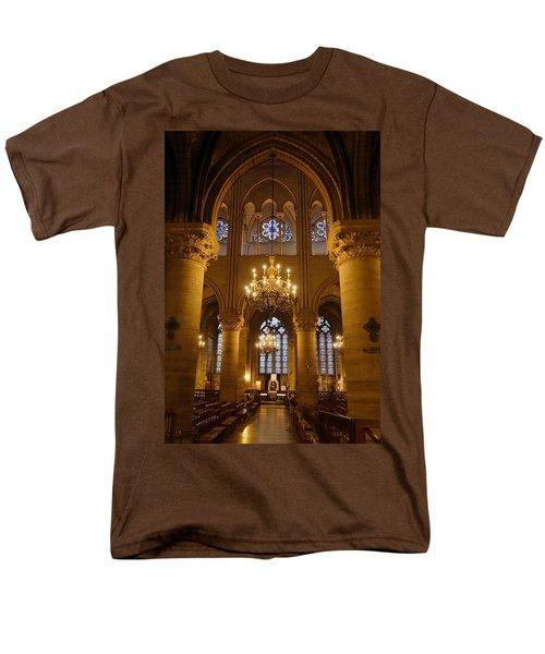 Architectural Artwork Within Notre Dame In Paris France Men's T-Shirt  (Regular Fit) by Richard Rosenshein