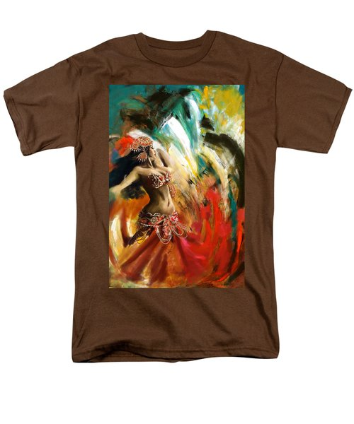 Abstract Belly Dancer 19 Men's T-Shirt  (Regular Fit) by Corporate Art Task Force
