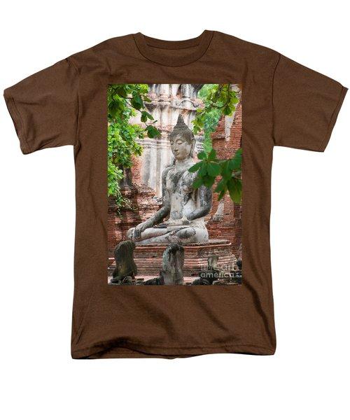 Buddha Statue Men's T-Shirt  (Regular Fit) by Yew Kwang