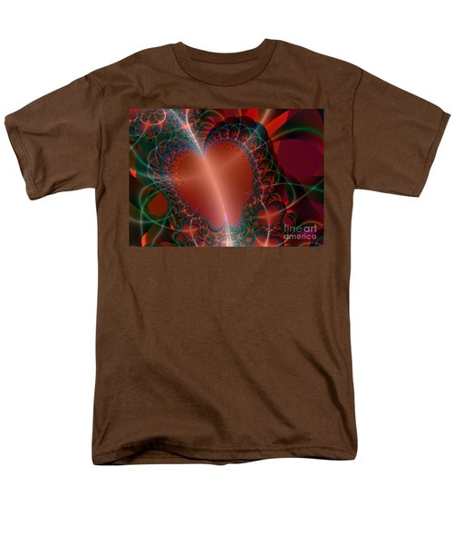 Men's T-Shirt  (Regular Fit) featuring the digital art A Big Heart by Ester  Rogers