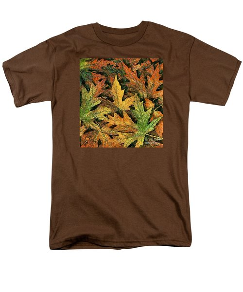 Men's T-Shirt  (Regular Fit) featuring the painting A Carpet Of  Falling Leaves by Dragica  Micki Fortuna