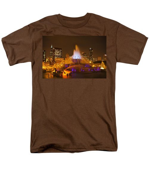 A Chicago Twilight Men's T-Shirt  (Regular Fit) by Andrew Soundarajan