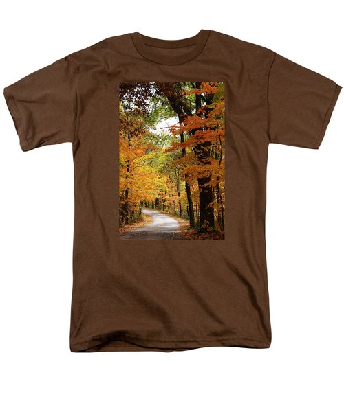 Men's T-Shirt  (Regular Fit) featuring the photograph A Drive Through The Woods by Bruce Bley