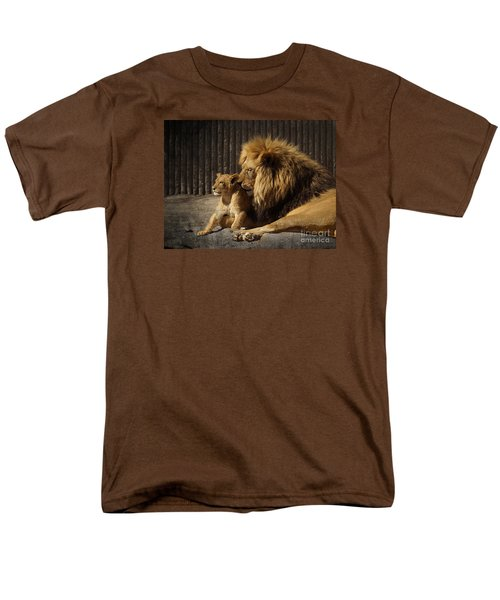Men's T-Shirt  (Regular Fit) featuring the photograph A Father's Love by Inge Riis McDonald