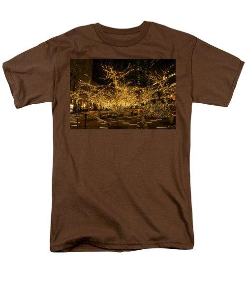 A Little Golden Garden In The Heart Of Manhattan New York City Men's T-Shirt  (Regular Fit) by Georgia Mizuleva