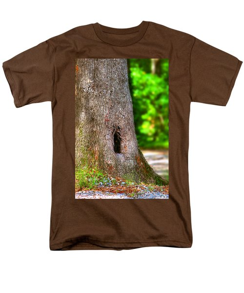 Men's T-Shirt  (Regular Fit) featuring the photograph A Little Hiding Place by Ester  Rogers