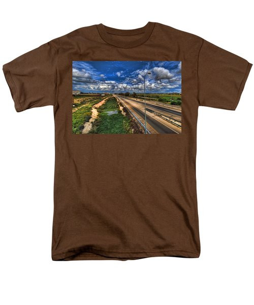 Men's T-Shirt  (Regular Fit) featuring the photograph a majestic springtime in Israel by Ron Shoshani
