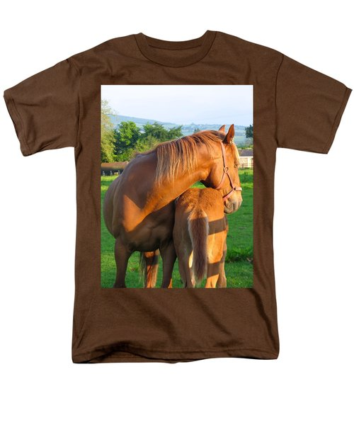 Men's T-Shirt  (Regular Fit) featuring the photograph A Mother's Love by Suzanne Oesterling