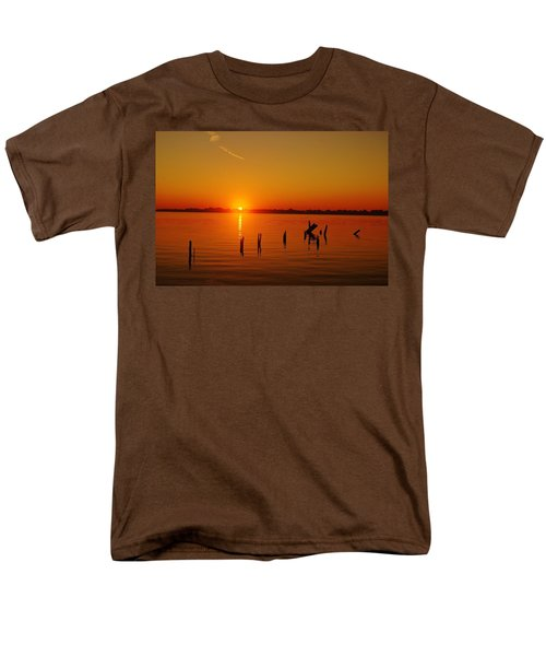 A New Day Dawns... Over Dock Remains Men's T-Shirt  (Regular Fit) by Daniel Thompson