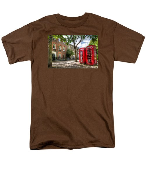 A Pair Of Red Phone Booths Men's T-Shirt  (Regular Fit) by Tim Stanley