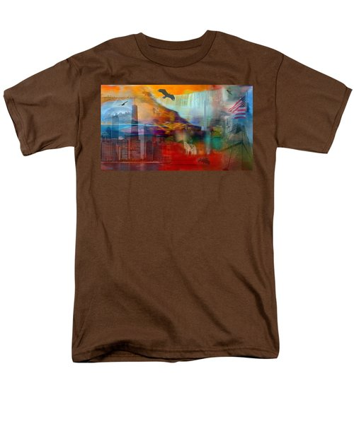 Men's T-Shirt  (Regular Fit) featuring the photograph A Piece Of America by Randi Grace Nilsberg
