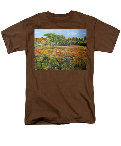 Men's T-Shirt  (Regular Fit) featuring the painting A Prairie Treasure by Marilyn  McNish