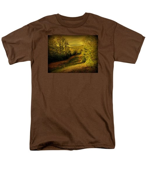 Men's T-Shirt  (Regular Fit) featuring the photograph A Road Less Traveled by Mim White