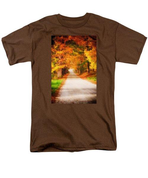 A Walk Along The Golden Path Men's T-Shirt  (Regular Fit) by Jeff Folger