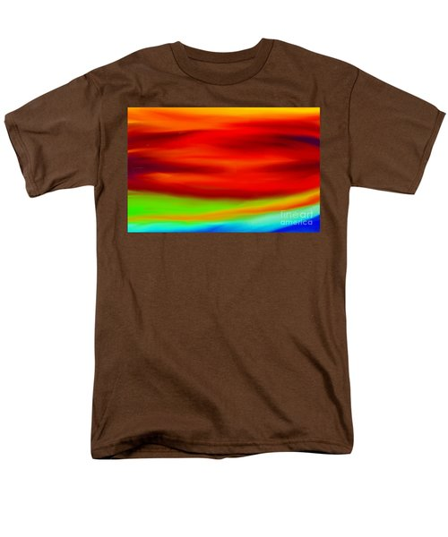 Abstract Colors Men's T-Shirt  (Regular Fit) by Anita Lewis