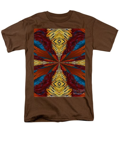 Men's T-Shirt  (Regular Fit) featuring the digital art Abstract Feathers by Smilin Eyes  Treasures