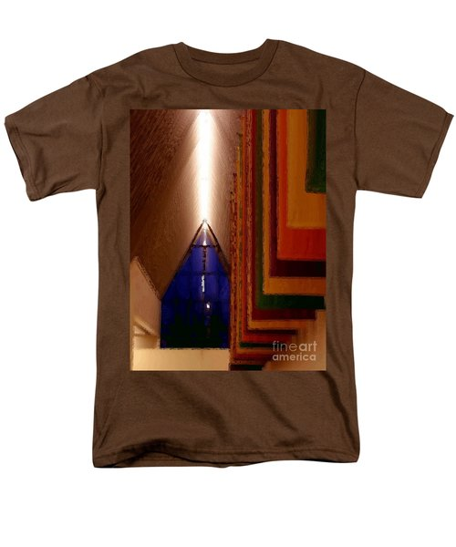 Abstract - Center For The Arts Interior Allentown Pa Men's T-Shirt  (Regular Fit) by Jacqueline M Lewis