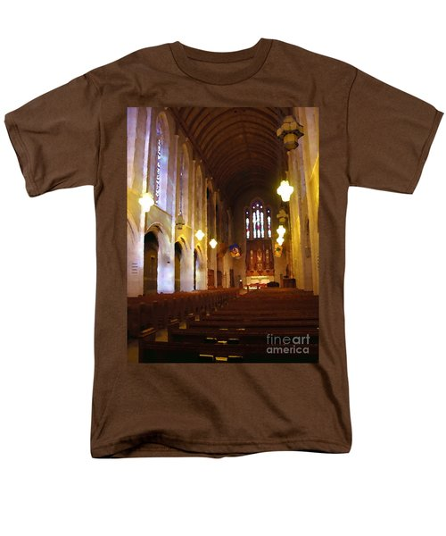 Abstract - Egner Memorial Chapel Interior Men's T-Shirt  (Regular Fit) by Jacqueline M Lewis