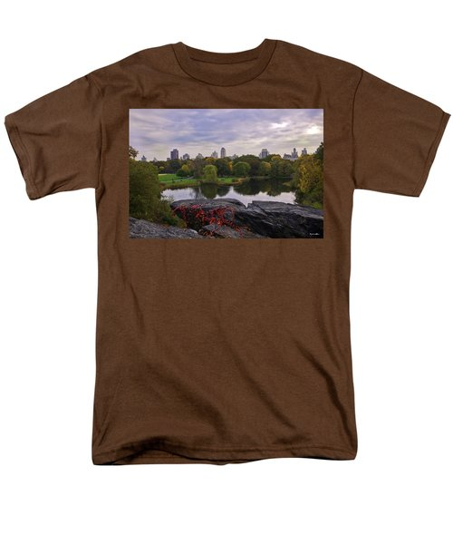 Across The Pond 2 - Central Park - Nyc Men's T-Shirt  (Regular Fit) by Madeline Ellis
