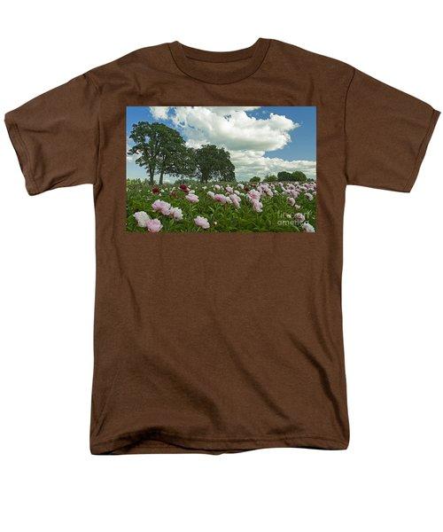 Adleman's Peony Fields Men's T-Shirt  (Regular Fit) by Nick  Boren